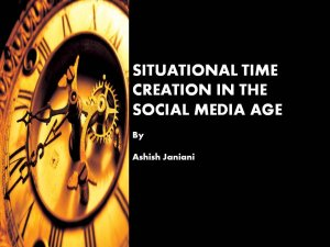 Situational Time Creation in the Social Media Age